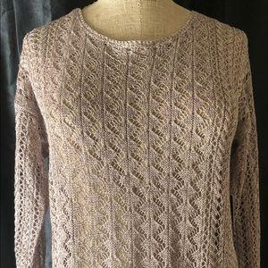 55% Linen & 45% viscose knit sweater
